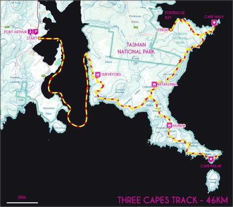 tastrails three capes track with only a parks pass