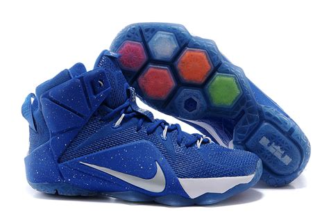 cheap basketball nike shoes cheap nike lebron 12 royal blue silver white basketball shoes