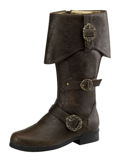 mens pirate boots deluxe pirate boots brown
