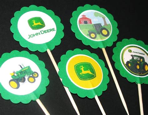Deere Cupcake Decorations by 1000 Ideas About 4th Birthday On