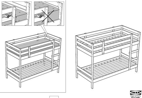 ikea loft bed instructions download ikea mydal bunk bed frame twin assembly