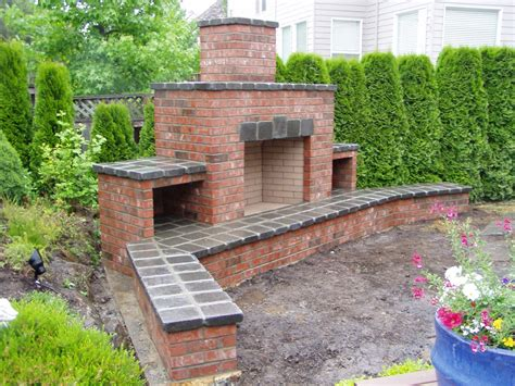 backyard bricks how to build an outdoor fireplace step by step guide