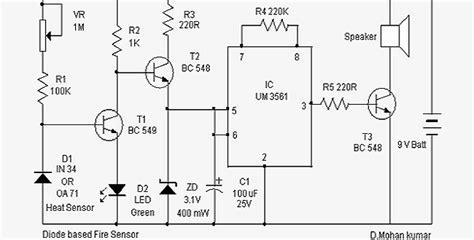 data base dioda senzor de incendiu cu cu um3561 si o dioda in35 electrodb ro