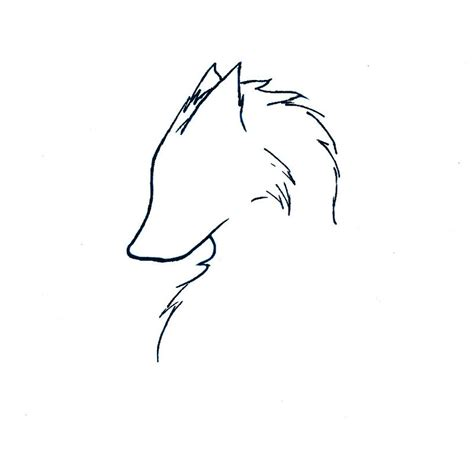 wolf outline tattoo wolf by flamingzigzag on deviantart closet