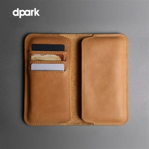 genuine d park hippo leather phone wallet for iphone