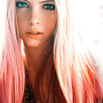 dyed blonde hairstyles peachy pink dip dyed hair extensions for from cloud9jewels on
