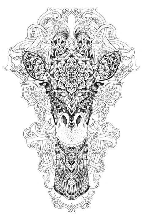 stress relief coloring pages elephant jirafa mandala mandalas pinterest adult coloring