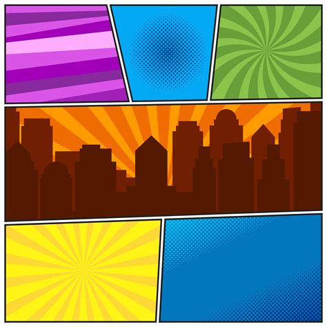 comic book page template   radial backgrounds