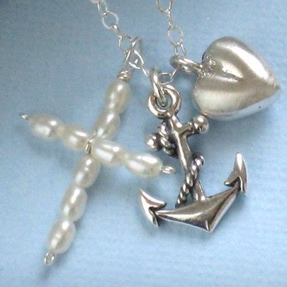 Charity Charm Necklace At Wallis by Cross Necklace Communion Christening Gift Faith