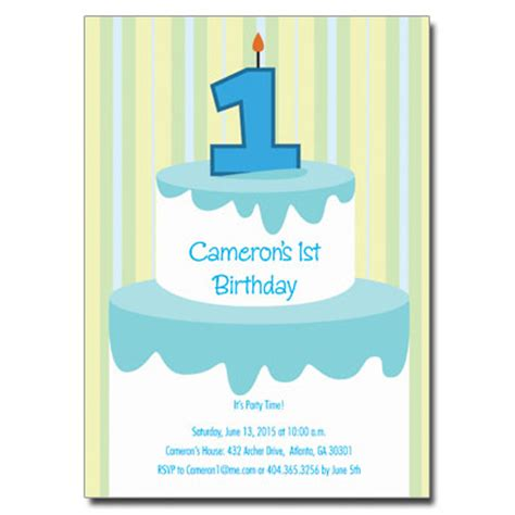1st birthday card template 1st birthday invitationsbaby 1st birthday invitations