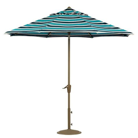5 Ft Patio Umbrella Home Decorators Collection 7 5 Ft Auto Tilt Patio Umbrella In Surfside Sunbrella With Chagne