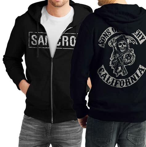 Hoodie Swag Hitam 03 Dealldo Merch samcro sons of anarchy black zipper hoodie swag shirts