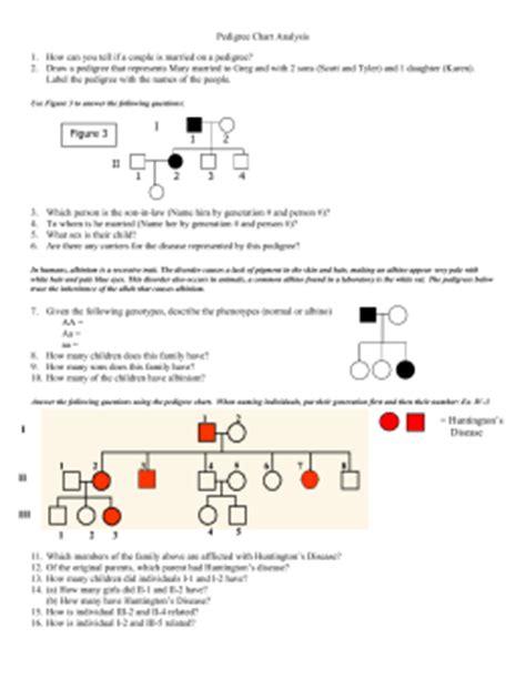 Pedigree Worksheet 2 Answers
