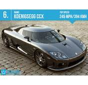 Fastest Cars In The World 2013 5 Koenigsegg CCX  Top Speed 245 Mph