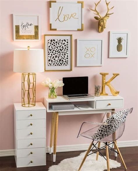 gold bedroom decor so neat and tidy should my desk like this