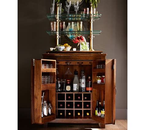 bar hutch bowry bar cabinet pottery barn