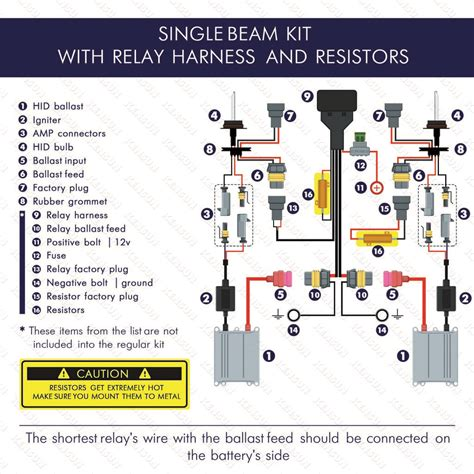 hid relay capacitor diagram 28 images 2pcs 9004 9007