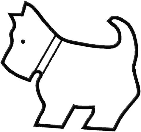 puppy outline outlines cliparts co
