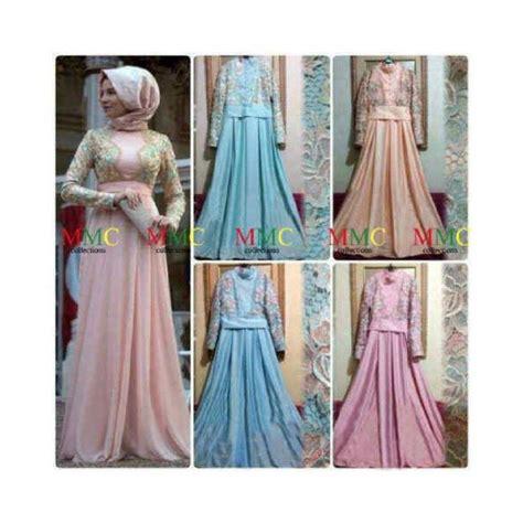 Dahlia Syari Black maxi desta baju pesta muslim model terbaru butik