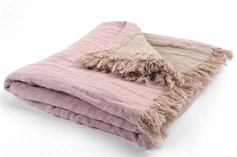 Blanket Cover Free Shipping Pink Linen Blanket Pink Plaid Lilac Linen