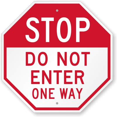 printable one way road sign stop do not enter sign one way sign sku k 9166