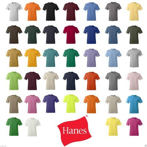 hanes t shirt colors hanes 5280 comfortsoft 174 heavyweight t shirt 5280 s m l