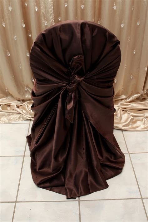 Chocolate Brown Covers by Chocolate Brown Satin Chair Cover Right Choice Linen