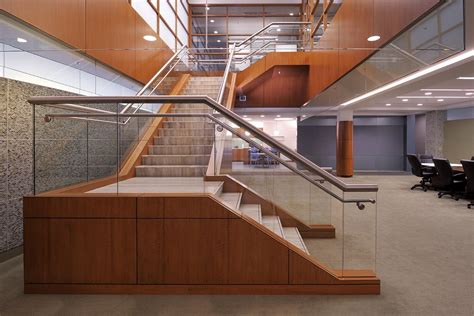 office stairs design llog corporate office interior build out donahuefavret