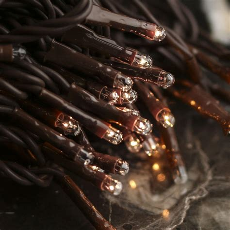 Clear Bulb And Brown Cord Teeny String Lights Lighting Brown String Lights