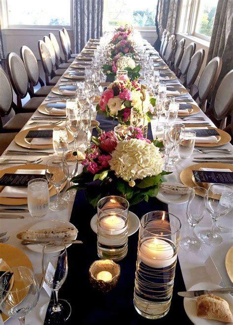navy  gold wedding wedding table rectangle wedding