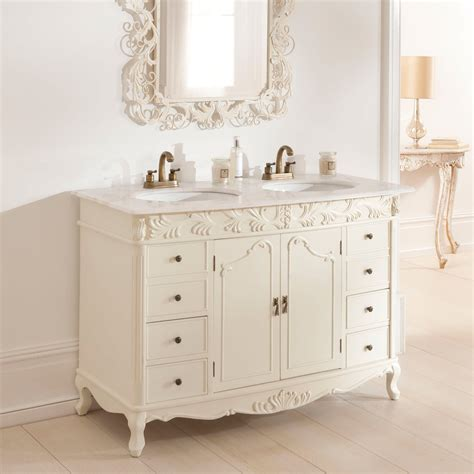 shabby chic bathroom sink unit double antique french vanity unit