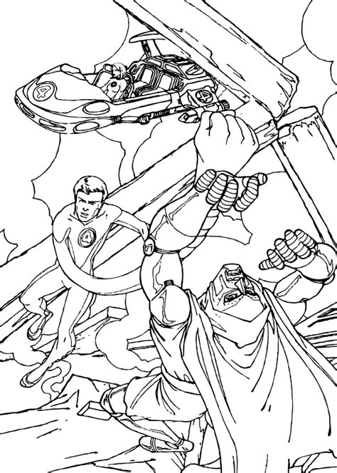 doctor doom coloring page mr fantastic and doctor doom coloring pages hellokids com