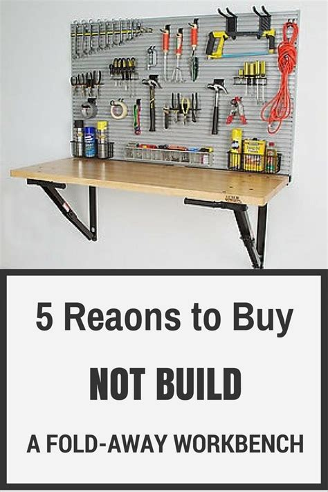 bench solution folding workbench 31 best images about garage organization on pinterest