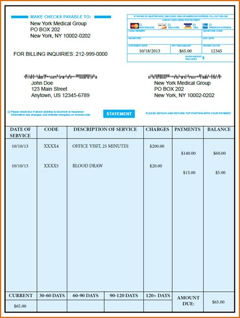 8  medical bill template   Authorizationletters.org