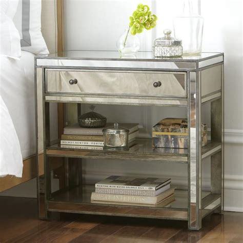 mirrored side table ambrose silver mirrored side table