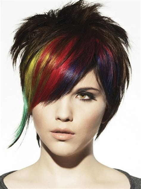 multiple color hair styles punk hairstyles for women stylish punk hair photos