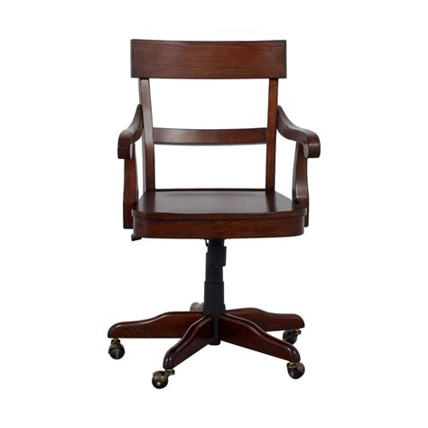 pottery barn desk l 53 off pottery barn pottery barn swivel wood desk chair