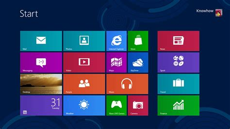 window 8 start screen