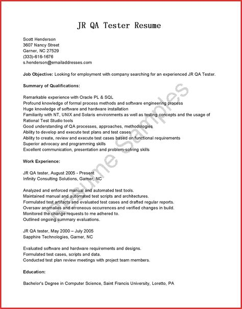 test engineer resume objective beautiful qa tester resume memo header