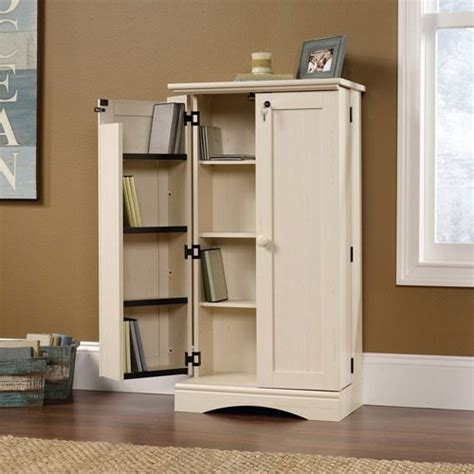sauder storage cabinet white sauder harbor view multimedia storage cabinet antiqued white