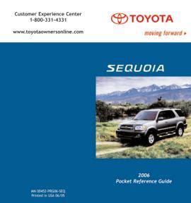 Pocket Source Toyota 2006 Sequoia Toyota 2006 Sequoia Pocket Reference Guide