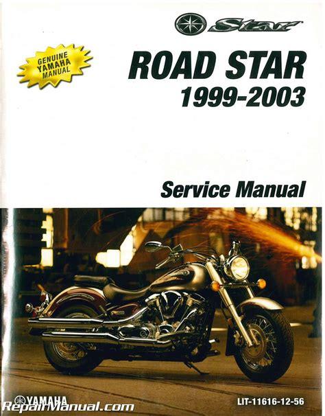 motocross bike repairs 1999 2003 yamaha road star xv1600 motorcycle service manual