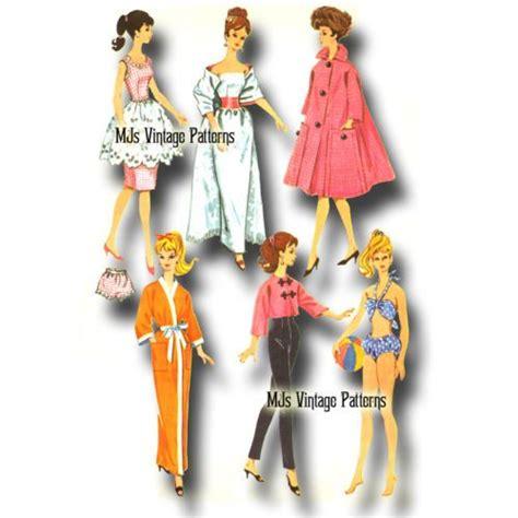 kimono pattern for barbie vintage 1960s barbie doll clothes pattern gown coat