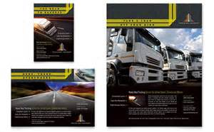 trucking amp transport flyer amp ad template design