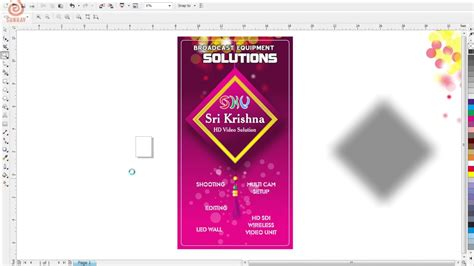 banner design in cdr format how to make flex design from cdr templates youtube