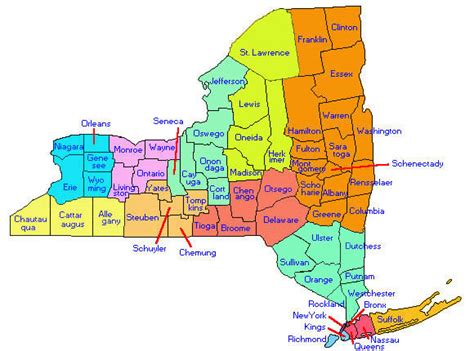 ny county new york state emergency nurses association chapter map
