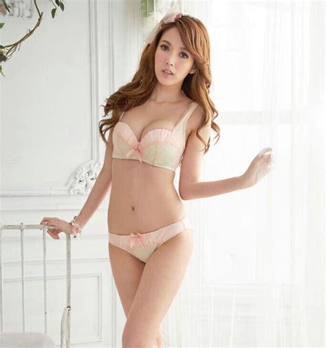Push Up Bra Lace Premium By Voglia 02463 korean style embroidery lace push up bra set