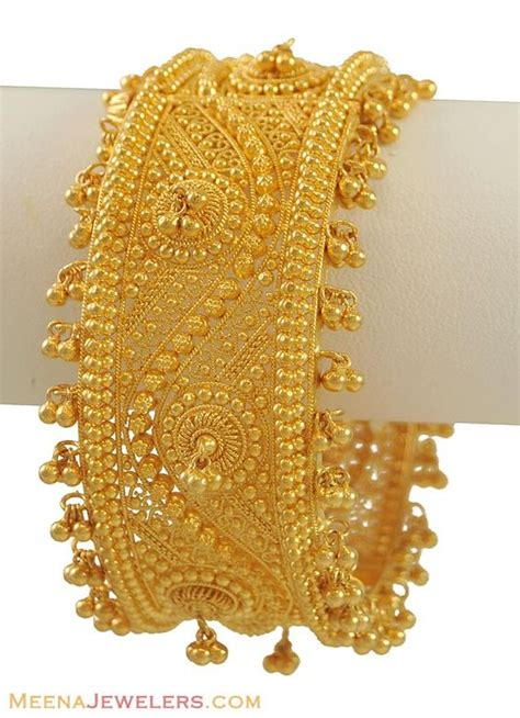 gold jewelry charges in india gold bangles from india 22k gold bangle with ghugri