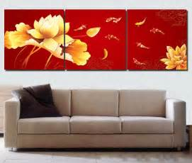 Koi Fish Home Decor by Koi Fish Wall Art Chinese Painting Red Wall Art Modern