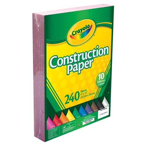 construction paper crayola construction paper 240 count 2 pack